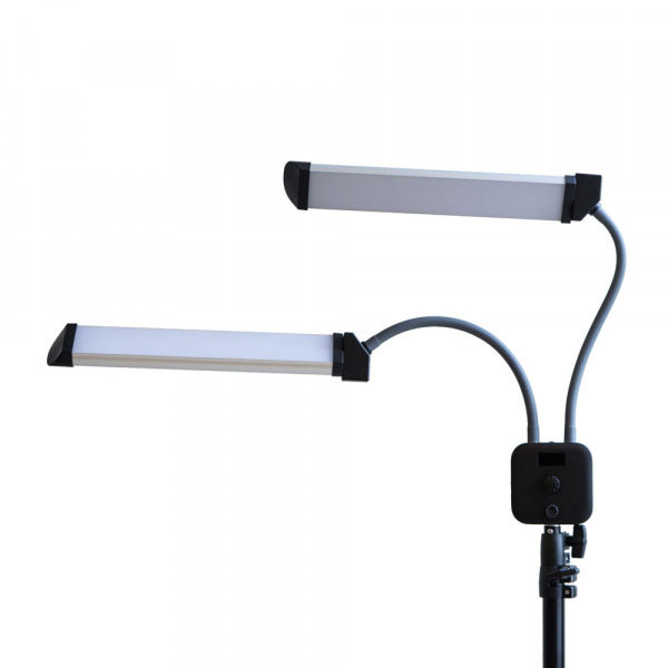 LAMP DOUBLE-LIGHT + TRIPOD - WITH ADJUSTABLE COLOR TEMPERATURE AND POWER