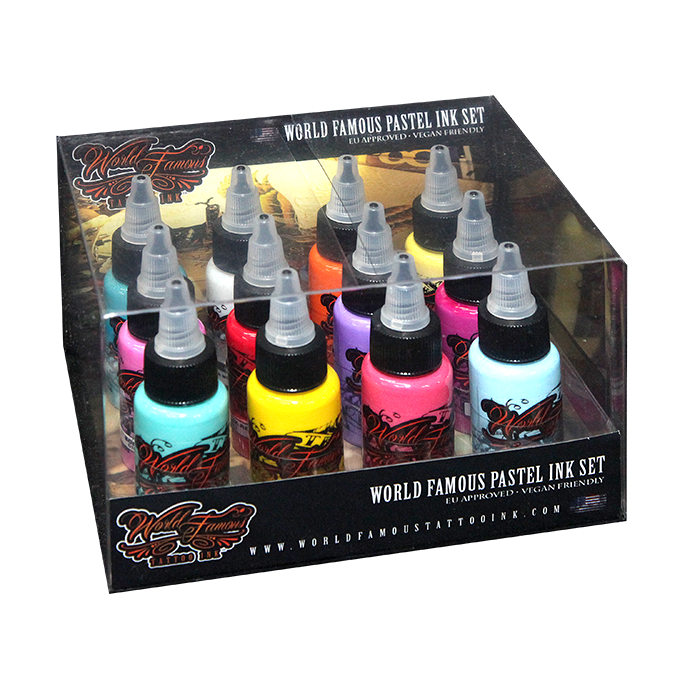 World Famous Pastel Ink Set - 30ml - 12pz