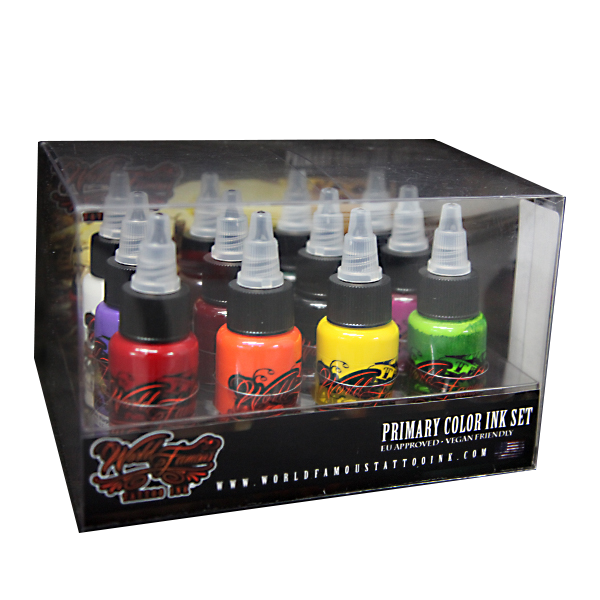 World Famous Primary Color Ink Set #1 - 30ml - 12pz