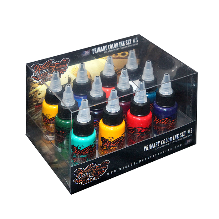 World Famous Primary Color Ink Set #3 - 30 ml - 12pz