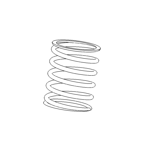 Retainer screw spring