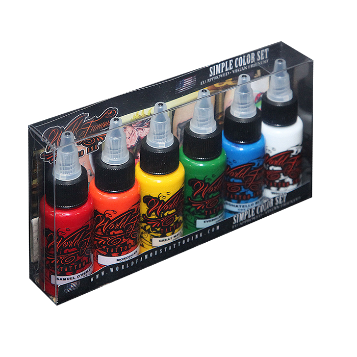 Simple Colors Tattoo Set - 30ml - 6pz