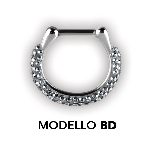 SWAROVSKI CRYSTAL SEPTUM CLICKERS